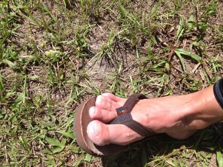 Post-race wet feet or shriveled raisins!