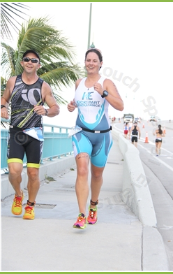 My new friend Paul and I headed off of the bridge at the Singer Island Sprint