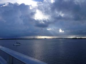 Looking to the south from the draw bridge in Fort Pierce