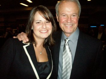 Dr. Richard Lapchick and I at the 2010 Central Florida Sports Commission Event
