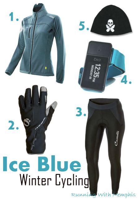 Ice Blue Winter Cycling