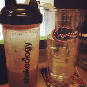 Shakeology and water